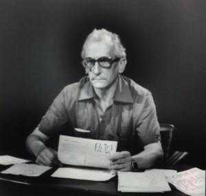 W studio podczas przygotowywania Telewizyjnego Informatora Wydawniczego (1977)