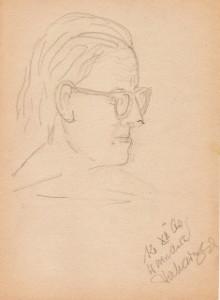 Portret matki Janiny z Adamskich Piekarskiej (1960)