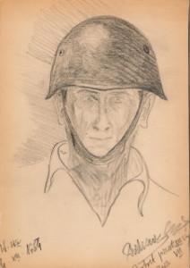 Autoportret w hełmie (1954)